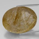 thumb image of 67.7ct Oval Facet Colorless Golden Rutile Quartz (ID: 329212)