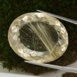thumb image of 57.2ct Oval Portuguese-Cut Colorless Golden Rutile Quartz (ID: 329214)