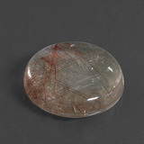 21.57 ct Round Cabochon Clear with Copper Rutile Quartz Gem 20.28 mm  (Photo B)