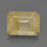 thumb image of 14.1ct Octagon Facet Colorless Golden Rutile Quartz (ID: 402037)