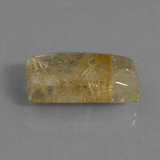 15.29 ct Baguette cabochon Very Light Golden-Brown Quartz Rutile gemme 21.34 mm x 10.5 mm (Photo B)