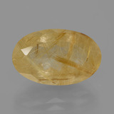 thumb image of 7.9ct Oval Facet Colorless Golden Rutile Quartz (ID: 403571)