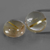 thumb image of 17.7ct Round Cabochon Colorless Golden Rutile Quartz (ID: 403689)