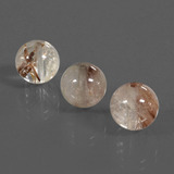 thumb image of 13ct Drilled Sphere Golden Brown Rutile Quartz (ID: 423002)