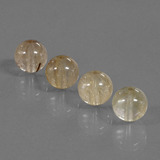 thumb image of 17.6ct Drilled Sphere Golden Brown Rutile Quartz (ID: 423007)