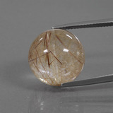 thumb image of 24ct Drilled Sphere Colorless Golden Rutile Quartz (ID: 423060)