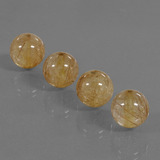 thumb image of 21.1ct Drilled Sphere Colorless Golden Rutile Quartz (ID: 423086)