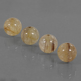 thumb image of 25.5ct Drilled Sphere Colorless Golden Rutile Quartz (ID: 423089)
