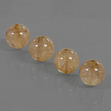 thumb image of 21.8ct Drilled Sphere Colorless Golden Rutile Quartz (ID: 423090)