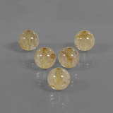 thumb image of 27.4ct Drilled Sphere Colorless Golden Rutile Quartz (ID: 423092)