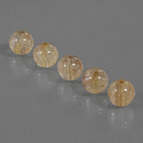 thumb image of 24.5ct Drilled Sphere Colorless Golden Rutile Quartz (ID: 423097)