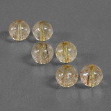 thumb image of 26.2ct Drilled Sphere Colorless Golden Rutile Quartz (ID: 423106)