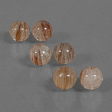 thumb image of 34ct Drilled Sphere Red Brown Rutile Quartz (ID: 423108)