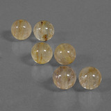 thumb image of 31.4ct Drilled Sphere Colorless Golden Rutile Quartz (ID: 423109)