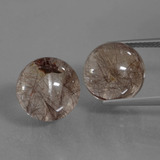 thumb image of 22.3ct Drilled Sphere Red Brown Rutile Quartz (ID: 434897)