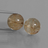 thumb image of 22.1ct Drilled Sphere Colorless Golden Rutile Quartz (ID: 434973)