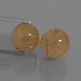 thumb image of 12.5ct Drilled Sphere Colorless Golden Rutile Quartz (ID: 435020)
