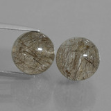 thumb image of 16.1ct Drilled Sphere Red Brown Rutile Quartz (ID: 435028)
