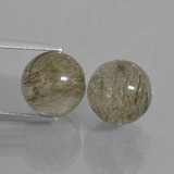 thumb image of 13.8ct Drilled Sphere Red Brown Rutile Quartz (ID: 435029)