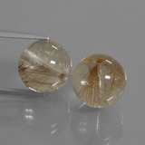 thumb image of 20.8ct Drilled Sphere Colorless Golden Rutile Quartz (ID: 435117)