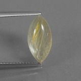thumb image of 3.4ct Marquise Cabochon Colorless Golden Rutile Quartz (ID: 436071)