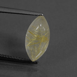 thumb image of 4ct Marquise Cabochon Colorless Golden Rutile Quartz (ID: 436210)