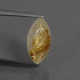 thumb image of 3ct Marquise Cabochon Colorless Golden Rutile Quartz (ID: 436211)