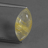 thumb image of 3.2ct Marquise Cabochon Colorless Golden Rutile Quartz (ID: 436217)