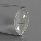 thumb image of 8.6ct Marquise Cabochon Colorless Rutile Quartz (ID: 438974)