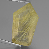 thumb image of 13.3ct Shield Colorless Golden Rutile Quartz (ID: 443239)