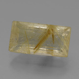 thumb image of 4.3ct Baguette Facet Colorless Golden Rutile Quartz (ID: 443295)