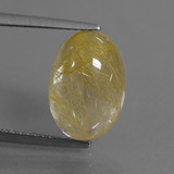 thumb image of 5.5ct Oval Cabochon Colorless Golden Rutile Quartz (ID: 446659)