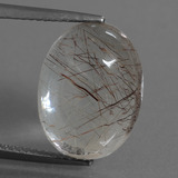 thumb image of 9.2ct Oval Cabochon Golden Red Rutile Quartz (ID: 448763)