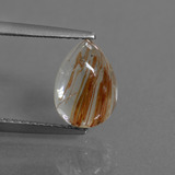 thumb image of 2.1ct Pear Cabochon Golden Red Rutile Quartz (ID: 448783)