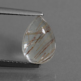 thumb image of 2.2ct Pear Cabochon Golden Red Rutile Quartz (ID: 448790)