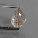 thumb image of 2.5ct Pear Cabochon Golden Red Rutile Quartz (ID: 448831)