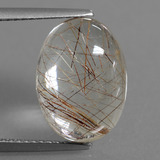 thumb image of 6.9ct Oval Cabochon Golden Red Rutile Quartz (ID: 448855)