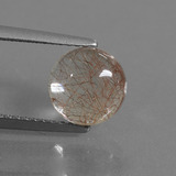 thumb image of 2.2ct Round Cabochon Golden Red Rutile Quartz (ID: 448887)