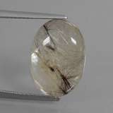 thumb image of 6.9ct Oval Cabochon Golden Red Rutile Quartz (ID: 449005)