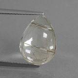 thumb image of 6.4ct Pear Cabochon Golden Red Rutile Quartz (ID: 449006)