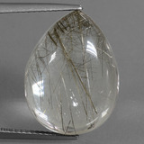 thumb image of 16.1ct Pear Cabochon Golden Red Rutile Quartz (ID: 449079)