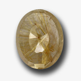 thumb image of 39.9ct Oval Buff-Top Colorless Golden Rutile Quartz (ID: 449081)