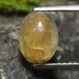 thumb image of 1.6ct Oval Cabochon Colorless Golden Rutile Quartz (ID: 474536)