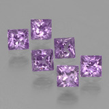 thumb image of 1.6ct Princess-Cut Pinkish Violet Sapphire (ID: 212366)
