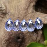 thumb image of 0.8ct Briolette with Hole Intense Blue  Sapphire (ID: 250942)