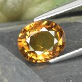 thumb image of 2.1ct Oval Facet Yellow Orange Sapphire (ID: 314826)