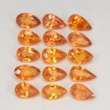 thumb image of 0.3ct Pear Facet Amber Orange Sapphire (ID: 324993)