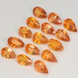 0.30 ct Sfaccettatura a pera Amber Orange Zaffiro Gem 5.27 mm x 3 mm (Photo B)