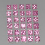 0.18 ct Princess-Cut Medium Pink Sapphire Gem 2.87 mm x 2.8 mm (Photo B)