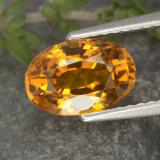 thumb image of 2.1ct Oval Facet Yellow Golden Sapphire (ID: 371491)